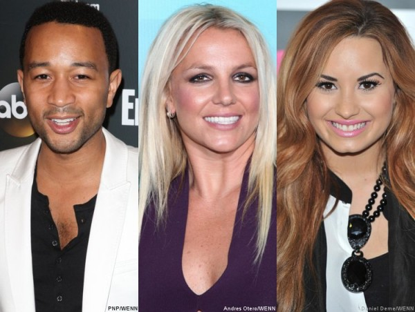 John Legend Britney Spears Demi Lovato