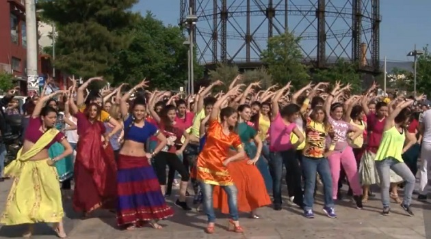 bollywood athens flash mob