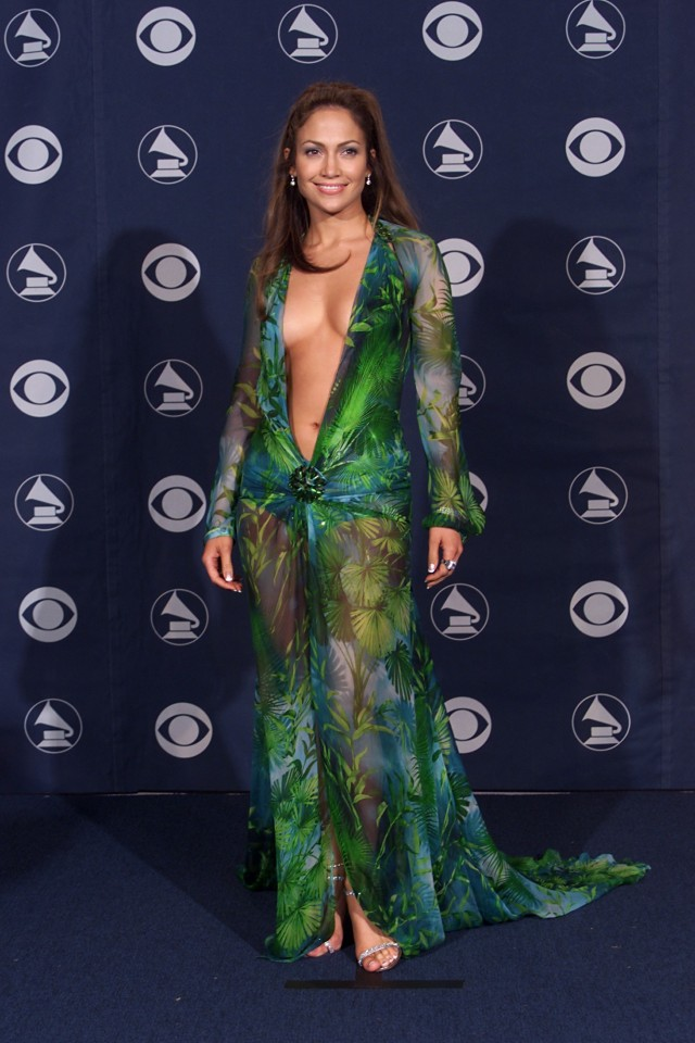 Jennifer Lopez @ Grammy Awards 2000 Versace Dress