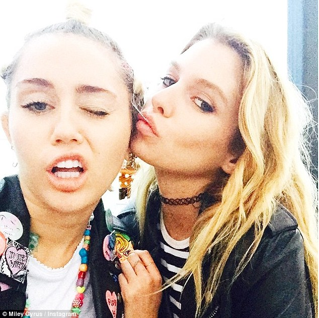MIley_and_24_year_old_model_Stella
