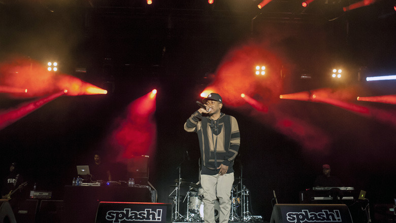 The American rapper Kendrick Lamar is here pictured at a live concert at the German hip-hop festival Splash Festival 2013. Germany 12/07 2013.