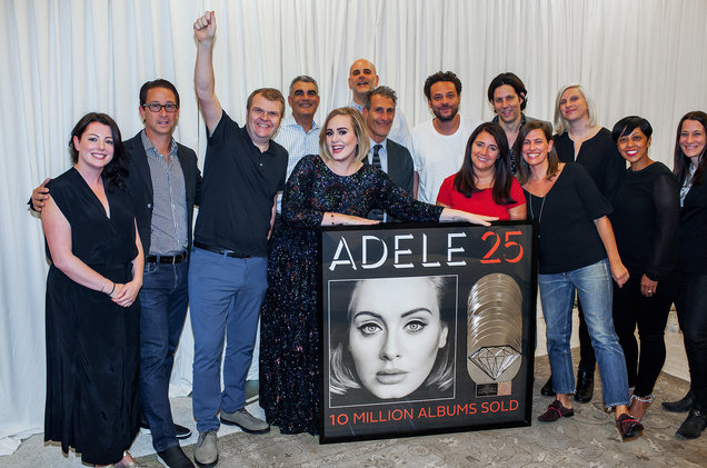 Adele 25 diamond hit channel