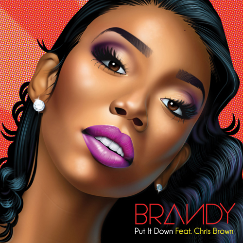 brandy chris brown put it down cover