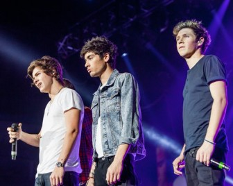 one direction at  the jingle bell ball 2012