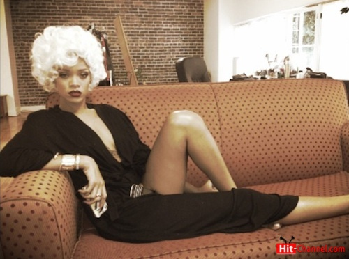 Rihanna pour it up video shoot Marilyn Monroe