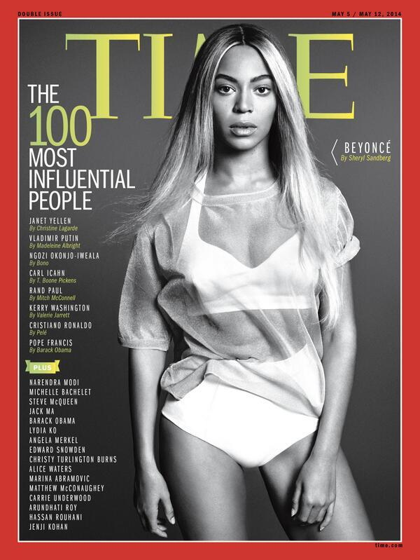 Beyonce Time Magazine 100 Most Influential Cover