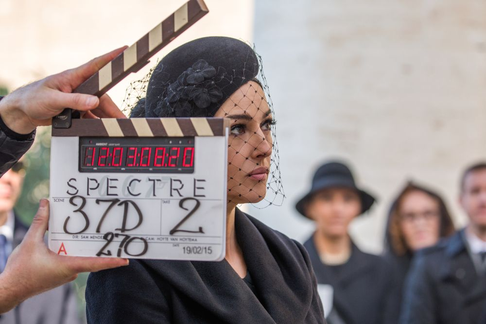 Monica Bellucci on location in Rome on the set of Metro-Goldwyn-Mayer Pictures/Columbia Pictures/EON Productions' action adventure SPECTRE.