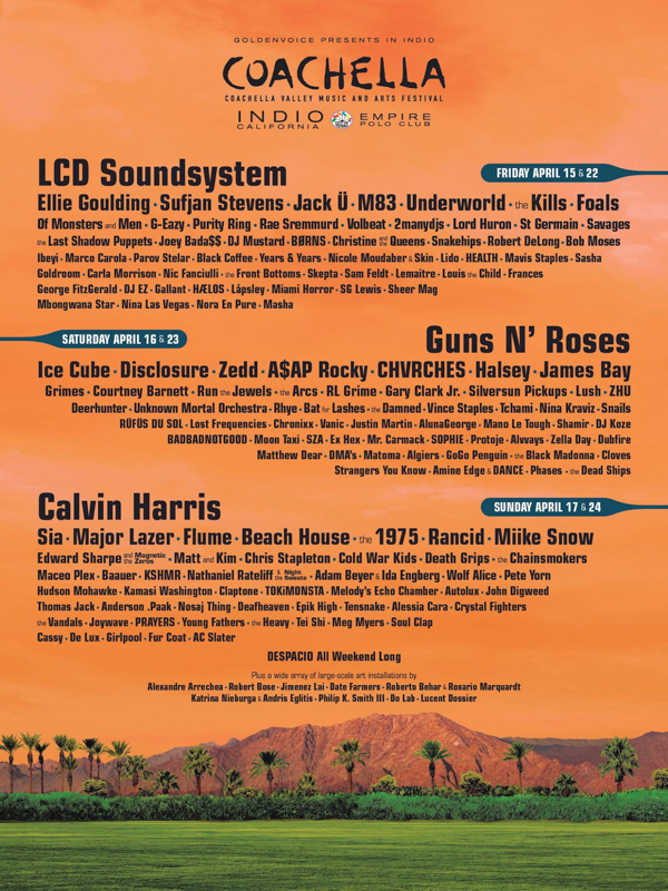 Coachella 2016, line-up