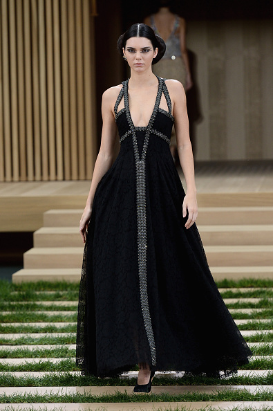 PARIS, FRANCE - JANUARY 26: Kendall Jenner walks the runway during the Chanel Haute Couture Spring Summer 2016 show as part of Paris Fashion Week on January 26, 2016 in Paris, France. (Photo by Dominique Charriau/WireImage)