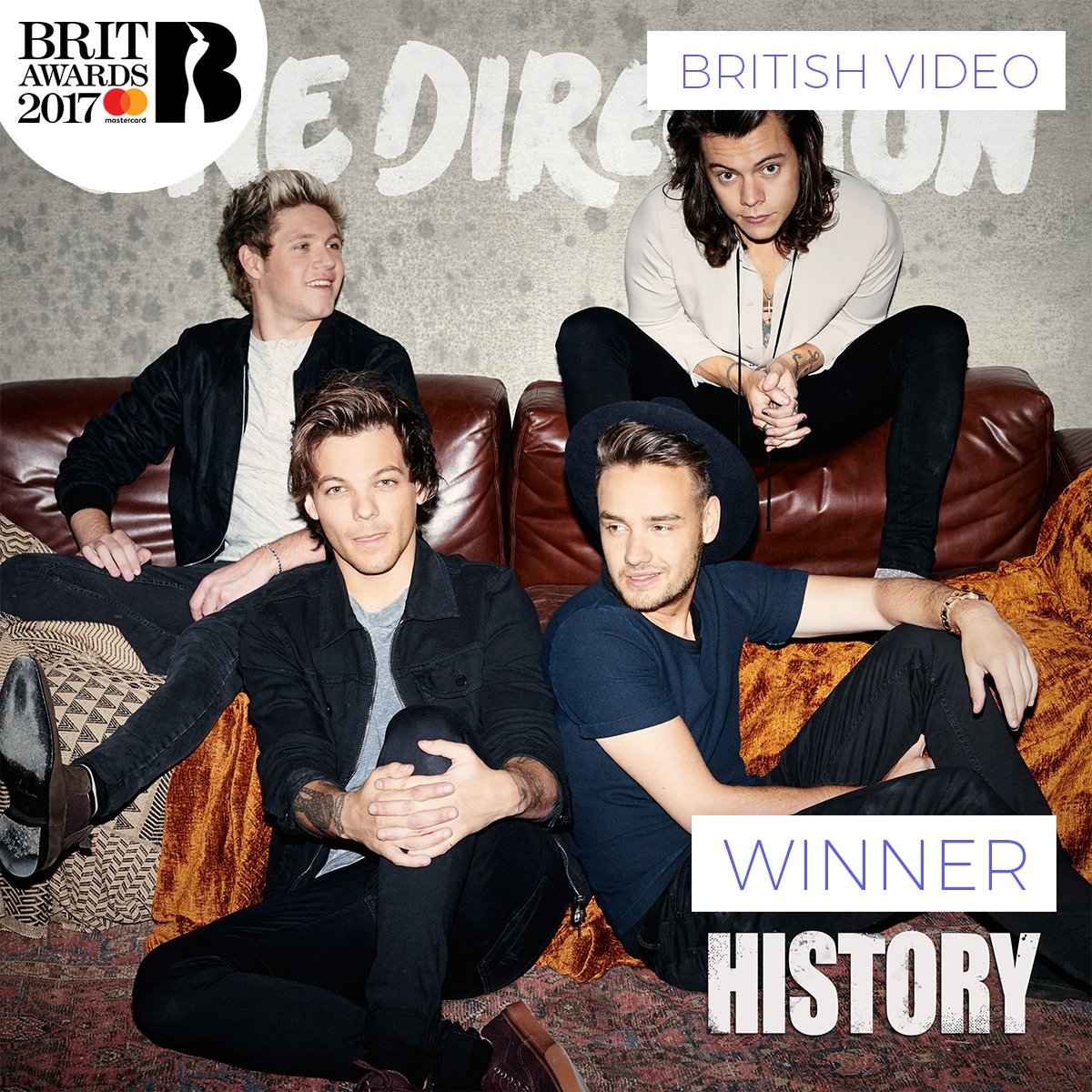 BRIT Awards 2017 - One Direction - Hit Channel