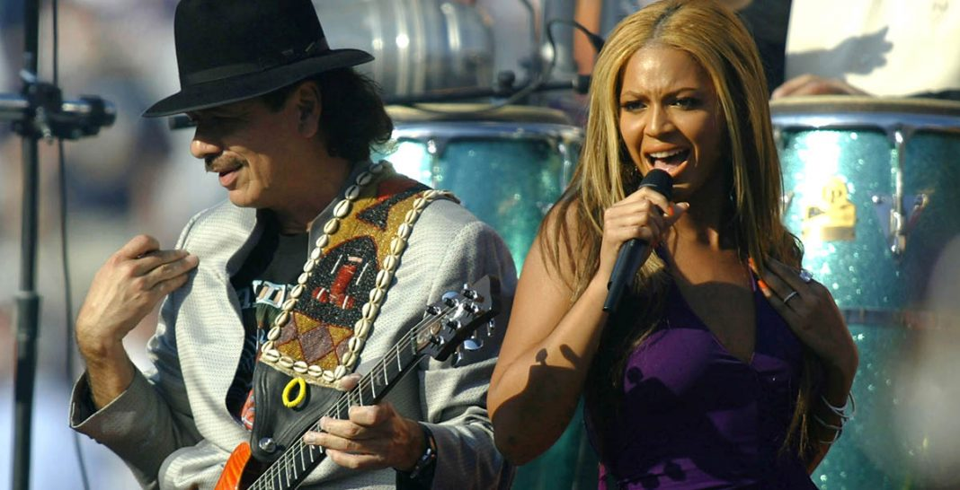 Carlos Santana - Beyonce - Super Bowl 2003 - Hit Channel