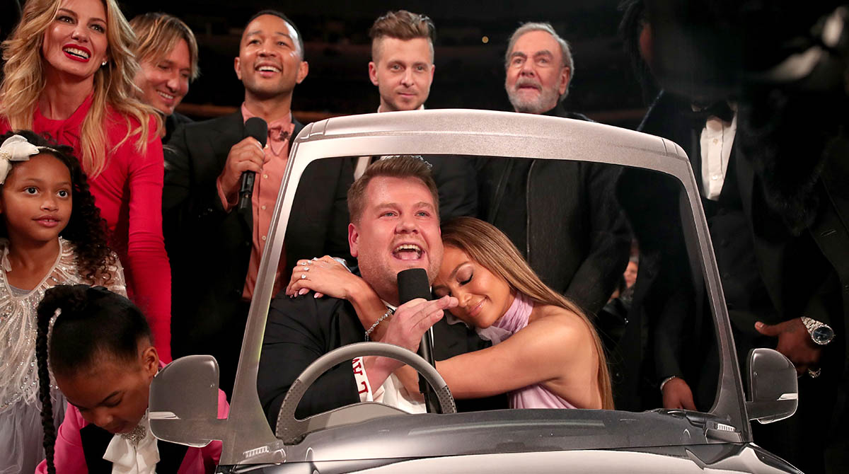 James Corden - Jennifer Lopez - John Legend - Ryan Tedder - Carpool Karaoke - Grammy Awards 2017 - Hit Channel