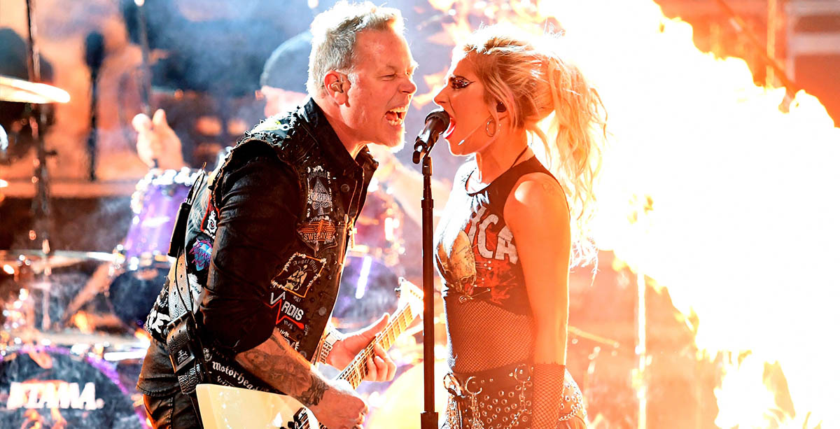 Metallica (James Hetfield) - Lady Gaga - Grammy Awards 2017 - Hit Channel