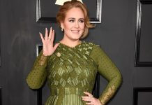 Adele Grammys 2017 red carpet